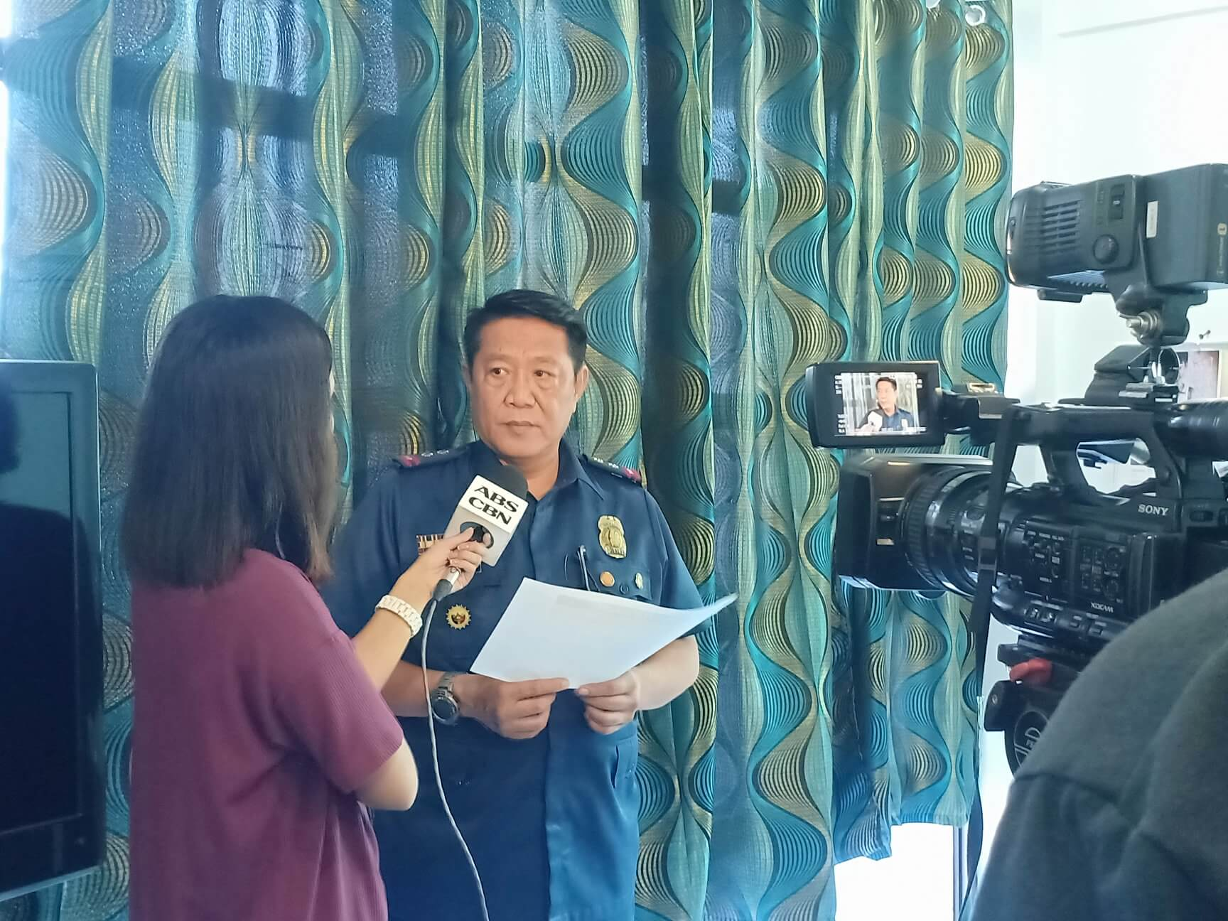 INTERVIEW ABOUT THE ANTI-ILLEGAL DRUG OPERATION