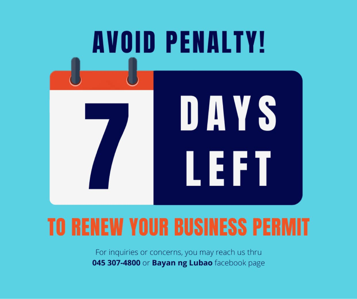 Avoid Penalty 7 Days Left to Renew your Business Permit