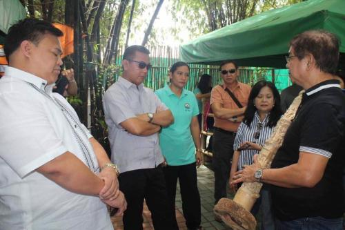 (LLDA) representatives, headed by General Manager Jaime Joey Medina, visit the Lubao Bamboo Hub and Eco-Park (5)